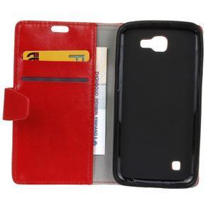 Leat peněženkové pouzdro na LG K4 - červené - 4