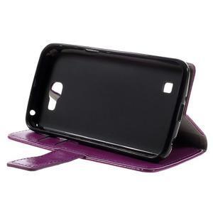 Fialové peněženkové pouzdro na LG K4 - 4