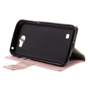 Růžové peněženkové pouzdro na LG K4 - 4