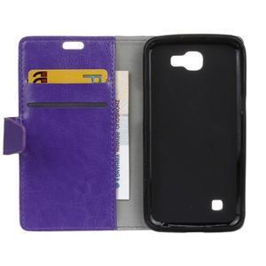 Leat peněženkové pouzdro na LG K4 - fialové - 4