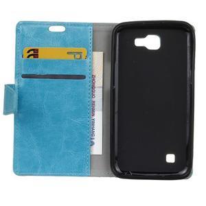 Leat peněženkové pouzdro na LG K4 - modré - 4