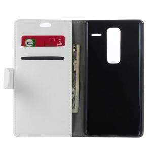 Sitt PU kožené pouzdro na mobil LG Zero - bílé - 4