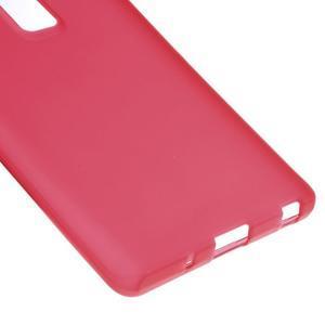 Matný gelový obal na mobil LG Zero - červený - 4