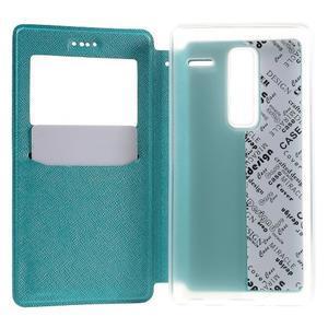Cross peněženkové pouzdro s okýnkem na LG Zero - modré - 4