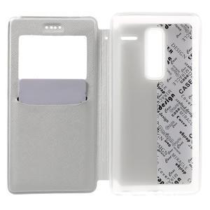 Cross peněženkové pouzdro s okýnkem na LG Zero - bílé - 4
