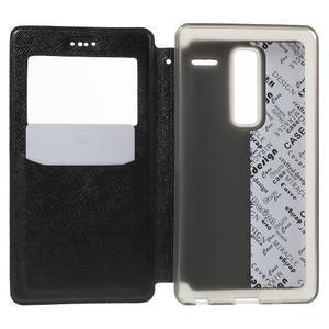Cross peněženkové pouzdro s okýnkem na LG Zero - černé - 4