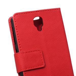Wallet pouzdro na mobil Lenovo A1000 - červené - 4