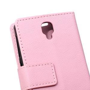 Wallet pouzdro na mobil Lenovo A1000 - růžové - 4