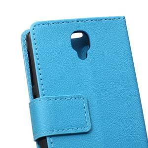 Wallet pouzdro na mobil Lenovo A1000 - modré - 4