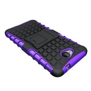 Outdoor odolný obal na mobil Microsoft Lumia 650 - fialový - 4