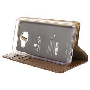 Mercury peněženkové pouzdro na Samsung Galaxy A3 (2016) - hnědé - 4