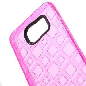 Square gelový obal na mobil Samsung Galaxy A3 (2016) - rose - 4