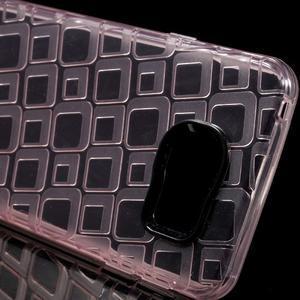 Square gelový obal na mobil Samsung Galaxy A3 (2016) - růžový - 4
