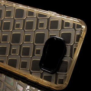 Square gelový obal na mobil Samsung Galaxy A3 (2016) - zlatý - 4