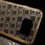 Square gelový obal na mobil Samsung Galaxy A3 (2016) - zlatý - 4/6