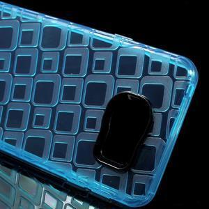 Square gelový obal na mobil Samsung Galaxy A3 (2016) - modrý - 4
