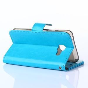 Wallet pouzdro na mobil Samsung Galaxy A3 (2016) - modré - 4