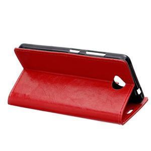 Fold peněženkové pouzdro na Microsoft Lumia 650 - červené - 4