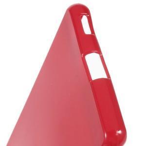 Lesklý gelový obal na mobil Sony Xperia M5 - červený - 4