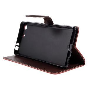 Blade peněženkové pouzdro na Sony Xperia M5 - červené - 4