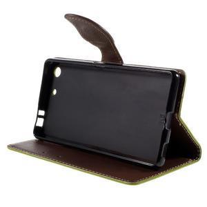Blade peněženkové pouzdro na Sony Xperia M5 - zelené - 4