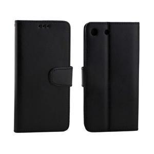 Horse PU kožené pouzdro na Sony Xperia M5 - černé - 4