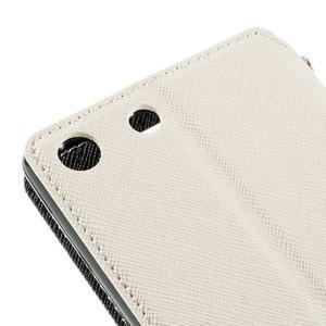 Diary pouzdro s okýnkem na Sony Xperia M5 - bílé - 4