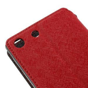 Diary pouzdro s okýnkem na Sony Xperia M5 - červené - 4