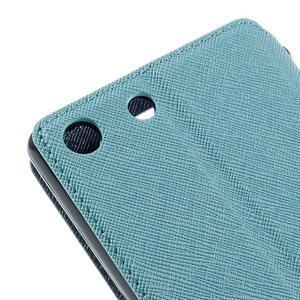 Diary pouzdro s okýnkem na Sony Xperia M5 - světlemodré - 4