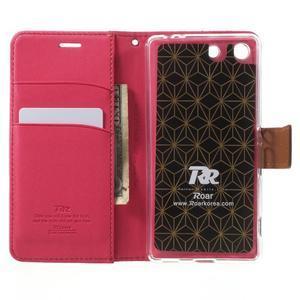 Wall PU kožené pouzdro na mobil Sony Xperia M5 - rose - 4