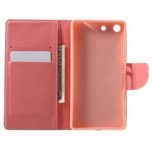 Stand peněženkové pouzdro na Sony Xperia M5 - květinový strom - 4