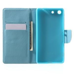 Stand peněženkové pouzdro na Sony Xperia M5 - sovičky - 4