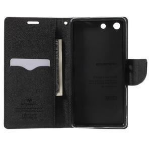Goos PU kožené penženkové pouzdro na Sony Xperia M5 - černé - 4