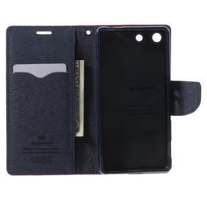 Goos PU kožené penženkové pouzdro na Sony Xperia M5 - červené - 4