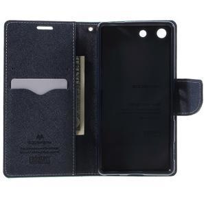 Goos PU kožené penženkové pouzdro na Sony Xperia M5 - cyan - 4