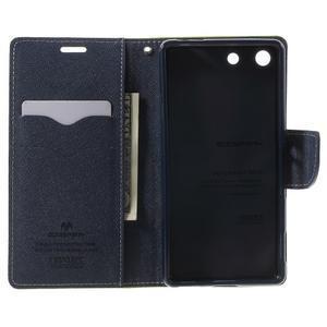 Goos PU kožené penženkové pouzdro na Sony Xperia M5 - zelené - 4