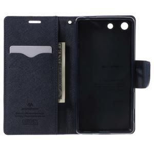Goos PU kožené penženkové pouzdro na Sony Xperia M5 - fialové - 4