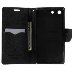 Goos PU kožené penženkové pouzdro na Sony Xperia M5 - hnědé - 4