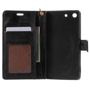 Croco peněženkové pouzdro na mobil Sony Xperia M5 - černé - 4