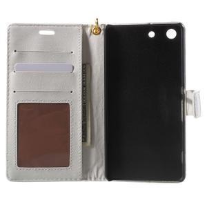 Croco peněženkové pouzdro na mobil Sony Xperia M5 - bílé - 4