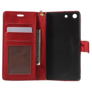 Croco peněženkové pouzdro na mobil Sony Xperia M5 - červené - 4