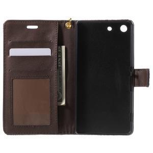 Croco peněženkové pouzdro na mobil Sony Xperia M5 - coffee - 4