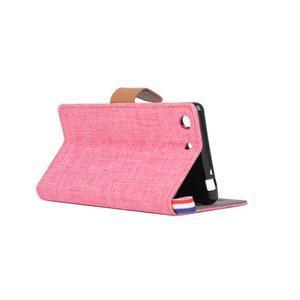 Jeans peněžnkové pouzdro na mobil Sony Xperia M5 - růžové - 4