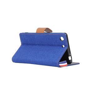 Jeans peněžnkové pouzdro na mobil Sony Xperia M5 - modré - 4
