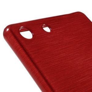 Brush gelový obal pro Sony Xperia M5 - červený - 4