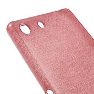 Brush gelový obal pro Sony Xperia M5 - růžový - 4