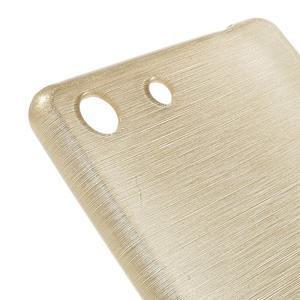 Brush gelový obal pro Sony Xperia M5 - champagne - 4