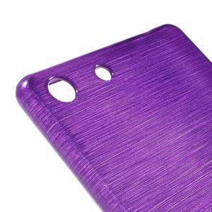Brush gelový obal pro Sony Xperia M5 - fialový - 4