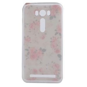 Softy gelový obal na mobil Asus Zenfone 2 Laser - květinová koláž - 4