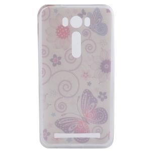 Softy gelový obal na mobil Asus Zenfone 2 Laser - motýlek - 4